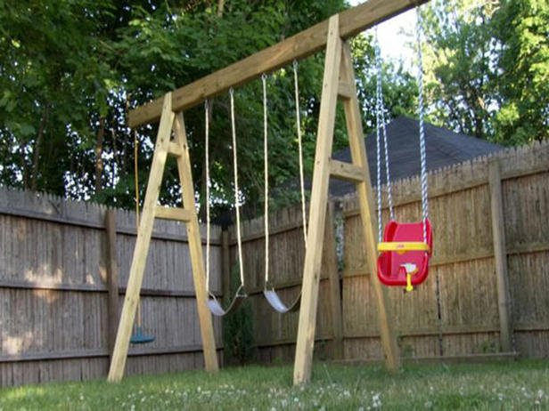 simple swing set plans a frame style