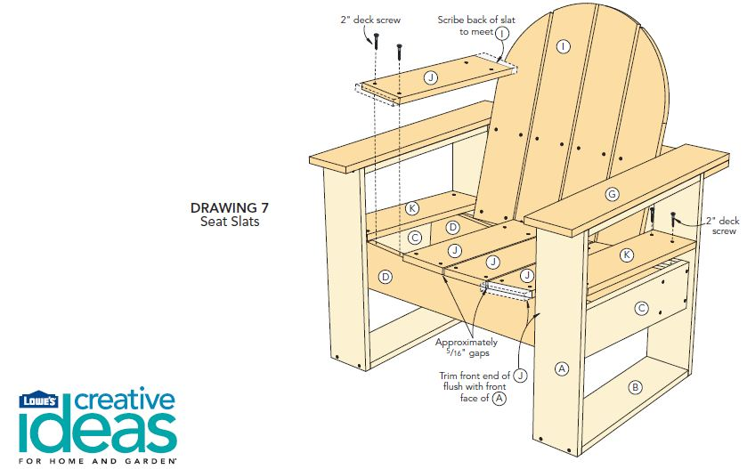 Adirondack inspired chairs diagram