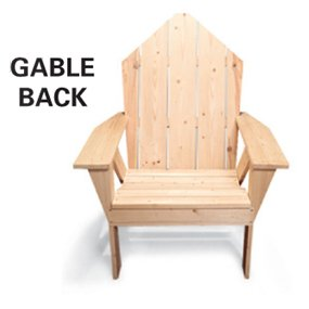 gable back Adirondack chair