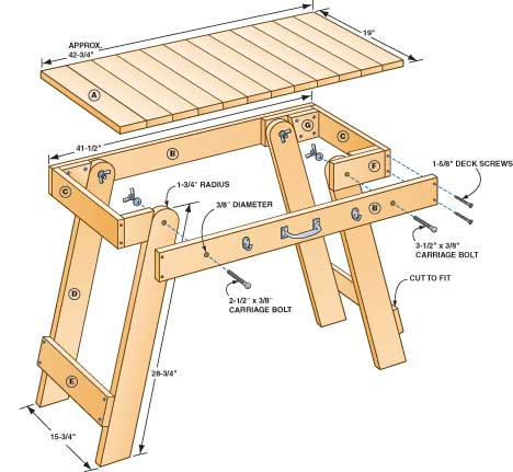 Free Portable Grill Table Plans - Woodwork City Free Woodworking Plans