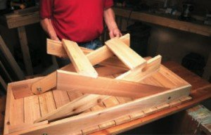 Grill table plan - folding feature