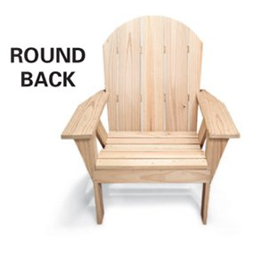 Round back Adirondack chair