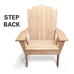 step back adirondack chair