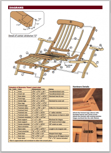 Free Titanic style deck chair plans