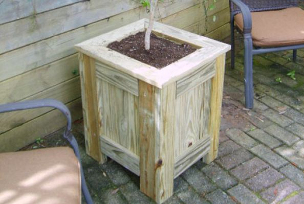 Free Pressure Treated Planter Box Plans Woodwork City