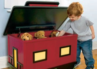 Toy Box Plans – Train Style