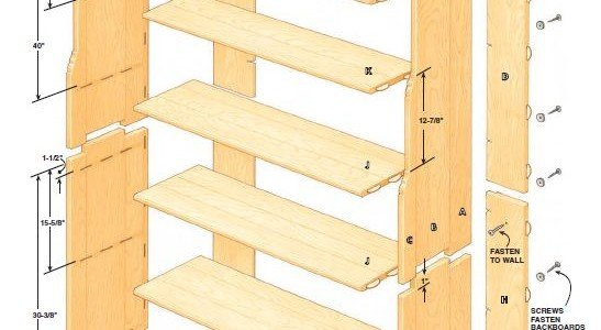 Two Part Bookcase Plans