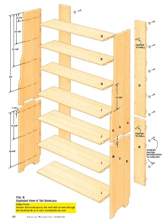 Two Part Bookcase Plans - Woodwork City Free Woodworking Plans