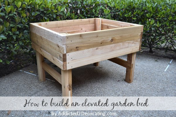 Elevated Garden Bed Plans Woodwork City Free Woodworking