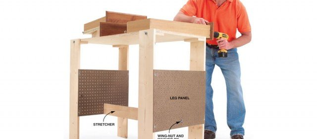 Folding Work Table – Bench Plans