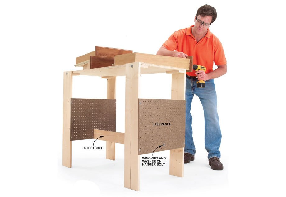Folding Work Table Bench Plans Woodwork City Free