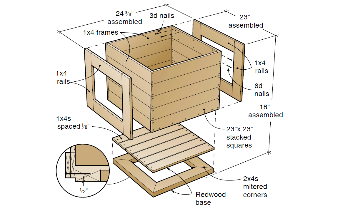 ... Wood Box Planter Plans Table Leaf Plans Log Porch Swing Plans Wood Box