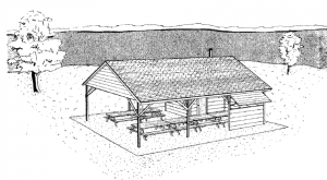 Picnic shelter with kitchen