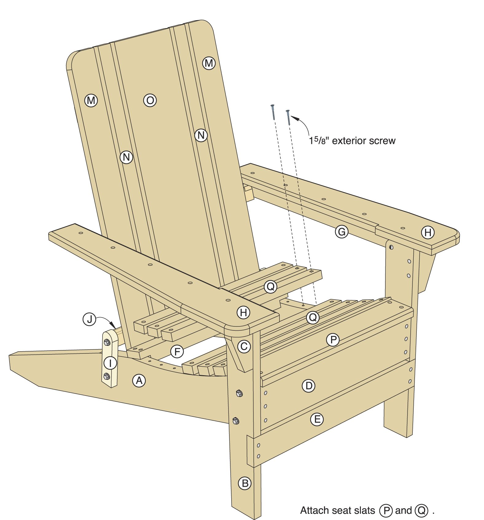 Folding Adirondack Chair Plans - Woodwork City Free Woodworking Plans