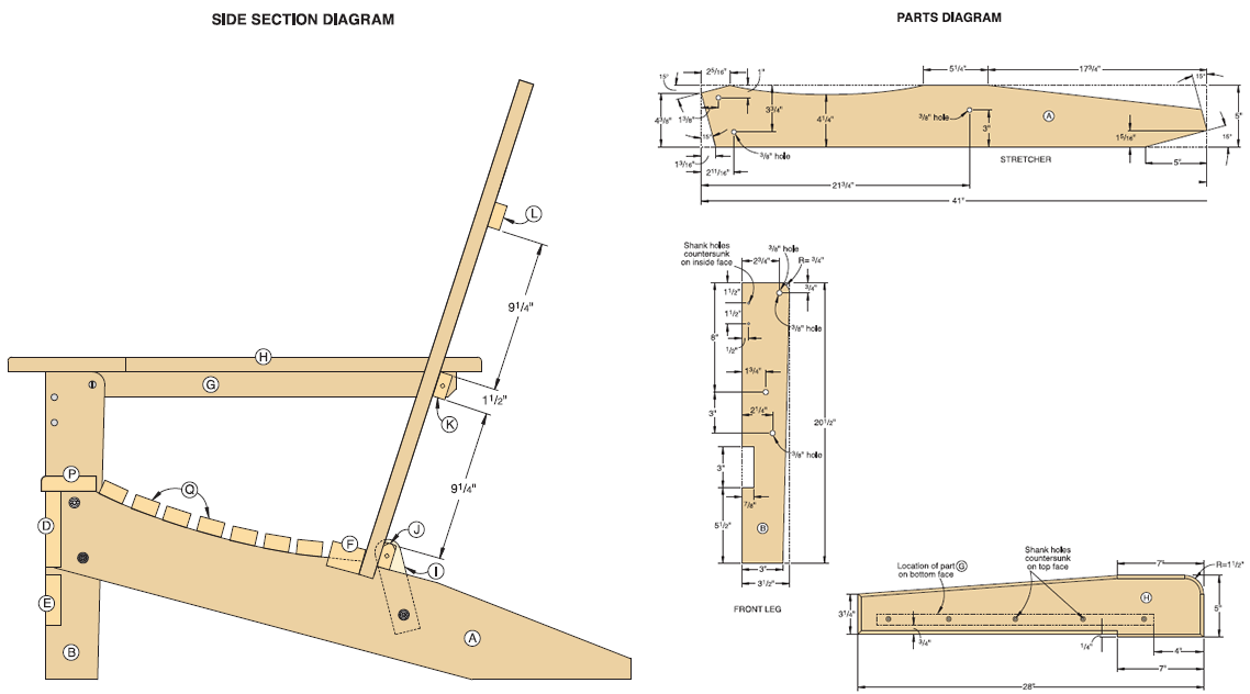 adirondack chair plans with templates