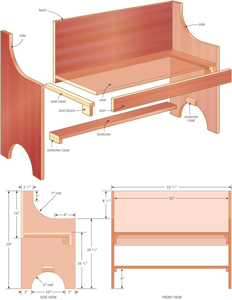 simple bench plan