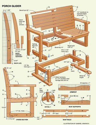 Free Porch Glider Project Plans Woodwork City