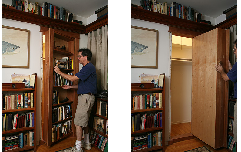 Bookcase Door Plans Hidden Door Woodwork City Free