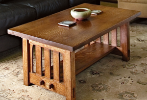 mission-style-coffee-table