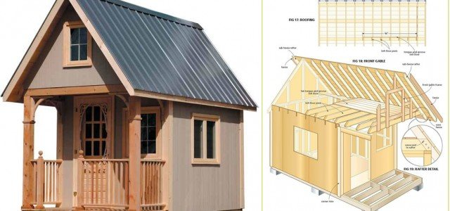Free Wood Cabin Plans U2013 Free Step By Step Shed Plans ...