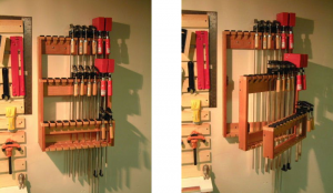 bar clamp storage rack