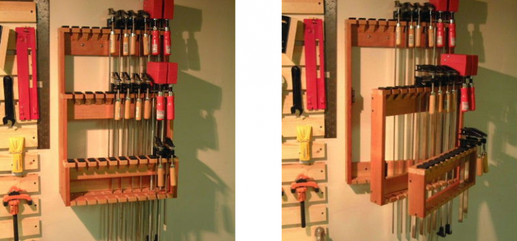 Space Saving Bar Clamp Racks - Woodwork City Free Woodworking Plans
