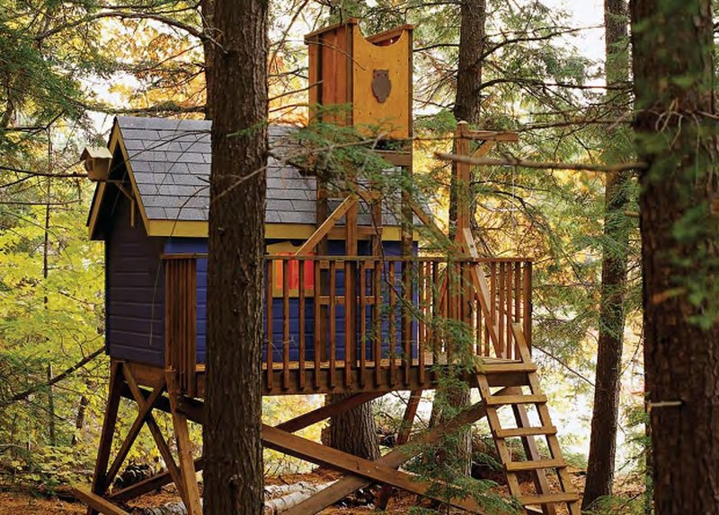 Deluxe Tree House Plans Woodwork City Free Woodworking Plans