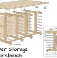 Workbench with Lumber Storage