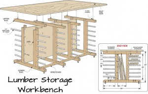lumber storage workbench plans