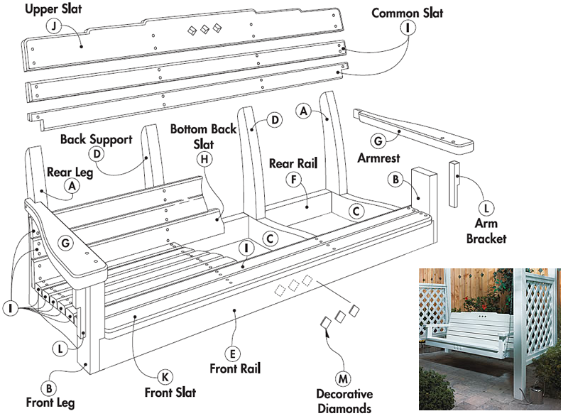 Porch swing bed plans for Patio plans free