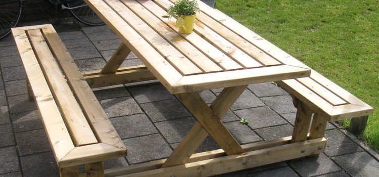 The Most Attractive 2 x 4 Picnic Table You Could Ever Build - Woodwork ...