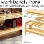Free plan workbench with drawers