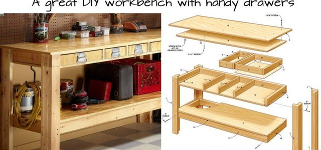 Build this Simple Workbench With Drawers - Woodwork City Free Woodworking Plans