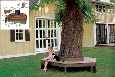 Wrap Around Tree Bench Plans Wrap Around Tree Bench Plans