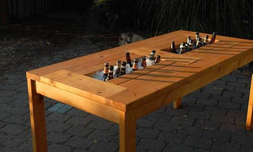 Plans for a Patio Table with Built-in Beer/Wine Coolers ...