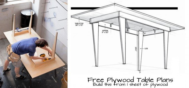 Plywood Table Plans