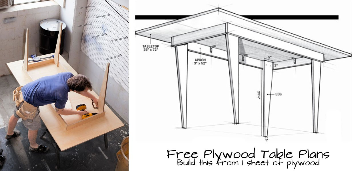 Plywood Table Plans Woodwork City Free Woodworking Plans