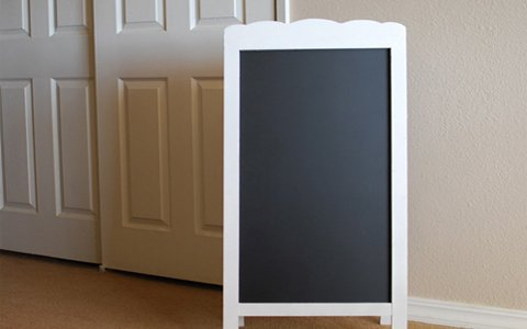 Simple, and Fun Chalkboard Easel Plans