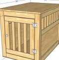 Farm Style Wooden Dog Kennel