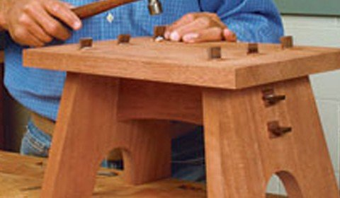 Sturdy, and Simple Footstool Plans