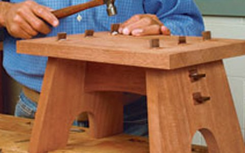 Sturdy And Simple Footstool Plans Woodwork City Free