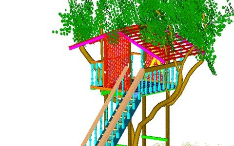 Easy, and Adaptable Treehouse Plan