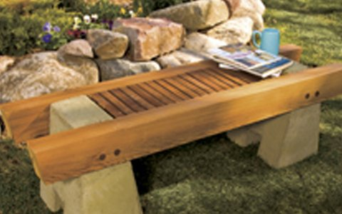Concrete And Wood Garden Bench Plan Woodwork City Free Woodworking Plans