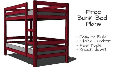 Simple Bunk Bed Plans – Few Tools, Stock Lumber