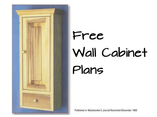 Free Wall Storage Cabinet Plans