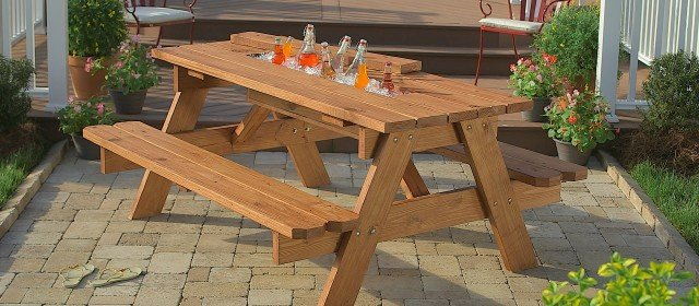 How to Build a Picnic Table with Built-in Cooler