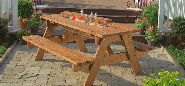How To Build A Picnic Table With Built In Cooler