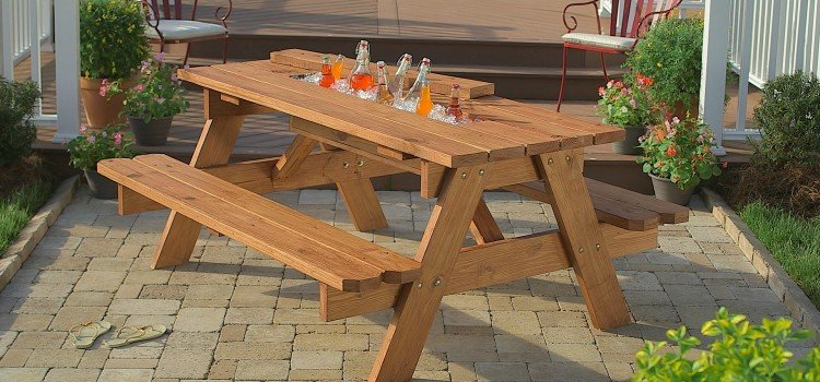 Awe Inspiring How To Build A Picnic Table With Built In Cooler Woodwork Gamerscity Chair Design For Home Gamerscityorg