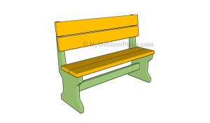 Free and SIMPLE Garden Bench Plans