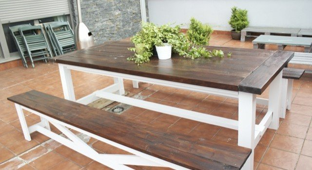 garden kitchen picnic table rustic free fancy plans bench style